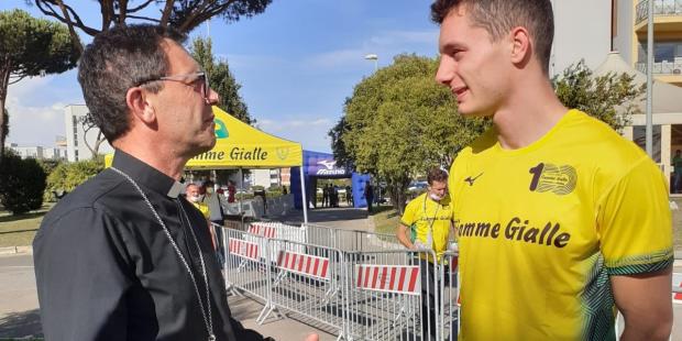 Mgr Gobillard & Filippo Tortu