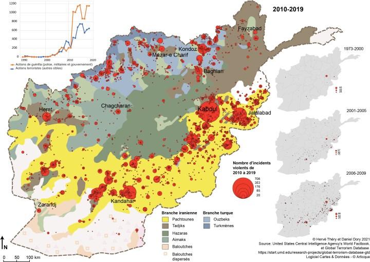carte terrorisme afghanistan