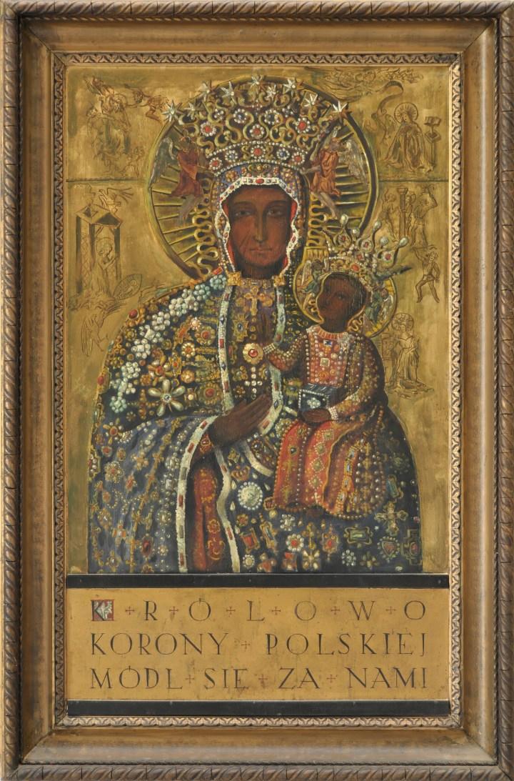 Tableau de Notre Dame de Czestochowa à Comblessac
