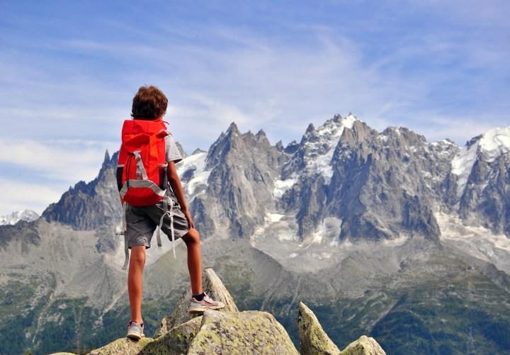 BOY, TREKKING, MOUNTAIN