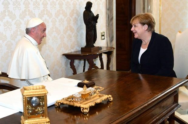 Pope-Francis-Merkel-AFP